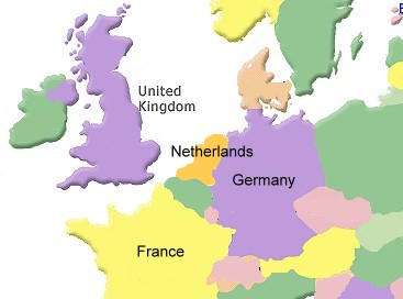 the netherlands belgium luxemburg and france to the west switzerland and austria to the south and the czech republic and poland to the east