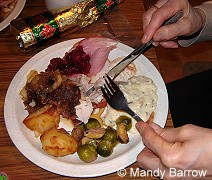 Traditional English Christmas Dinner.Christmas Dinner In England