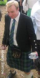 Man wearing a kilt