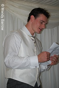 Best man giving a speech