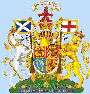 British Royal Coat of Arms and Motto