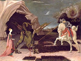 George slaying the dragon